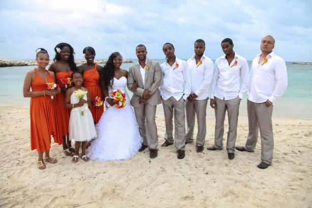 Wedding party Jamaica